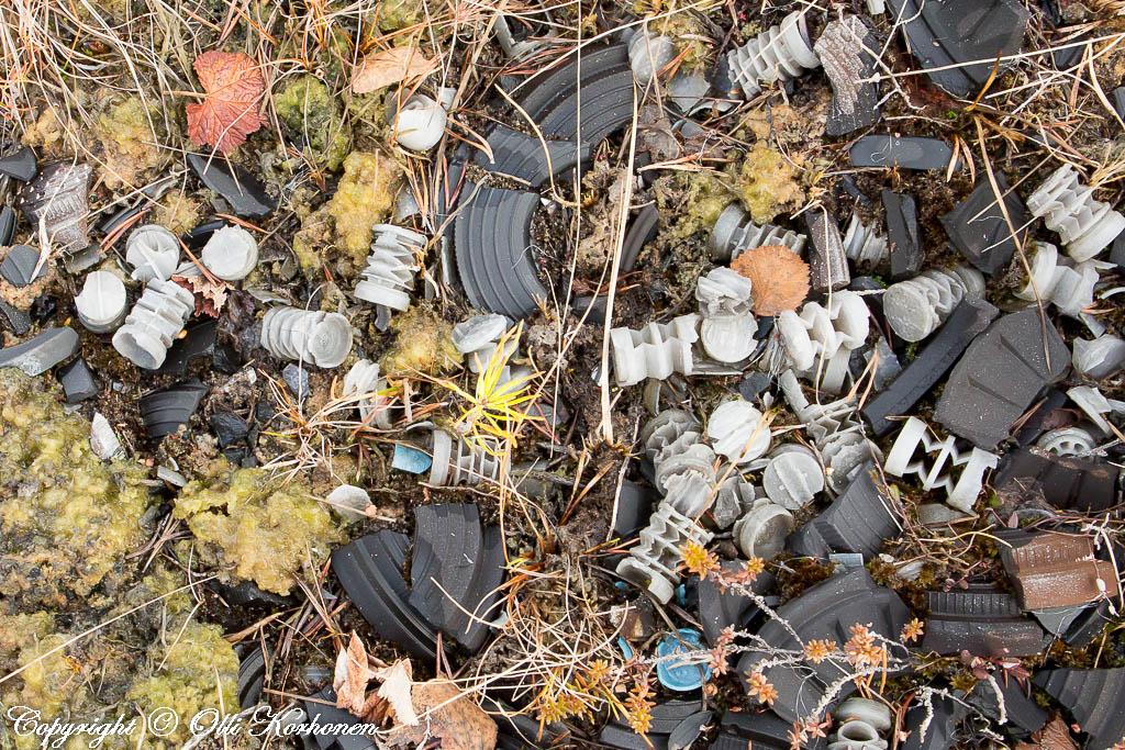 muovituppo,haulikon hylsy,onkilampi,mikromuovin lähde